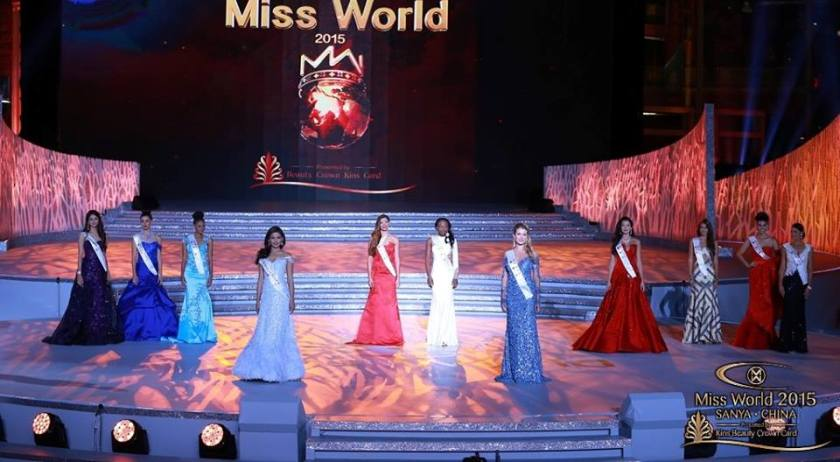 Hilarie Parungao and the rest of the Top 10 finalists Miss World 2015