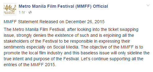 MMFF on ticket swapping issue