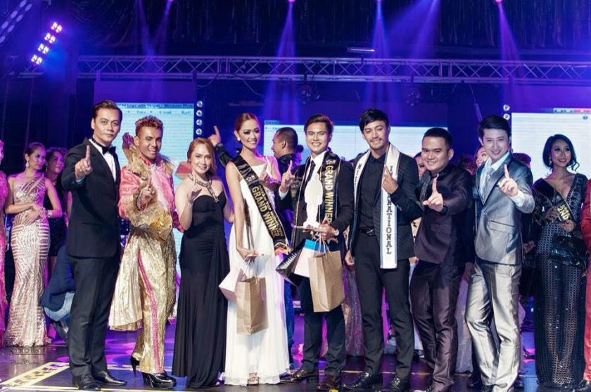 The winners of Dream Top Model 2016 Janina Espinosa and Anthony John Garcia together with some of the judges including Mister International 2016 Niel Perez.