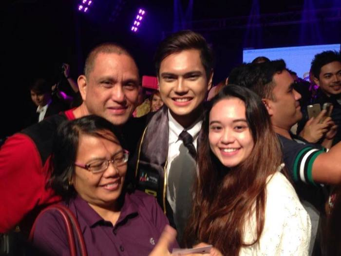 Anthony John Garcia with his family