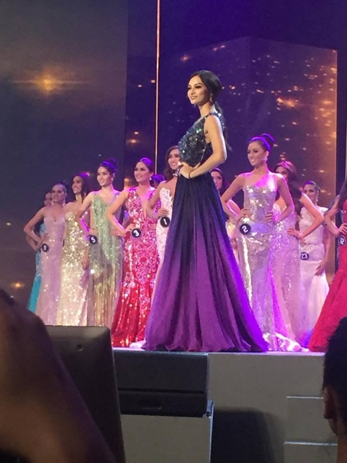 Kylie Verzosa on stage Binibining Pilipinas 2016 International