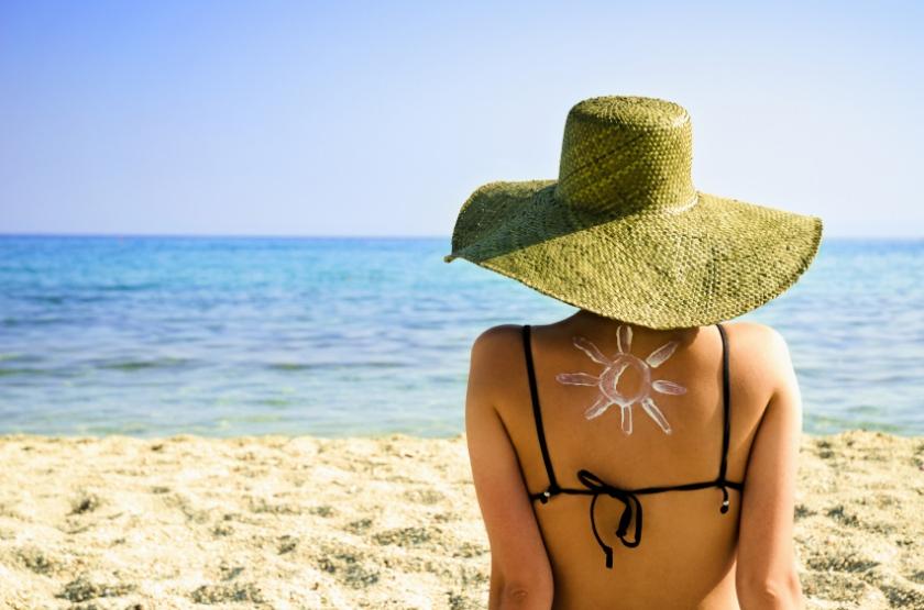 sunscreen beach