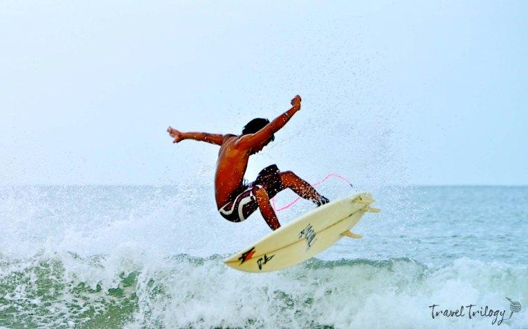 Surfing in Bagasbas