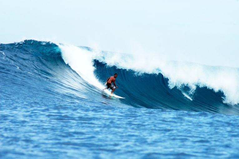 Surfing in Baler