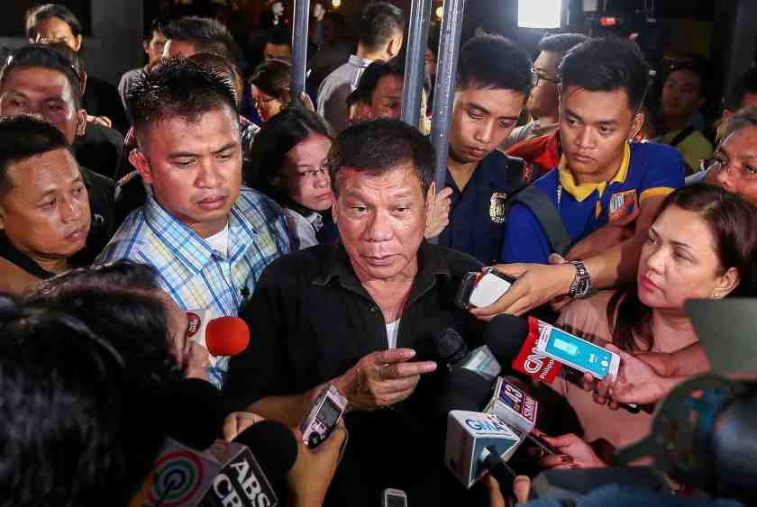 Duterte with the Media