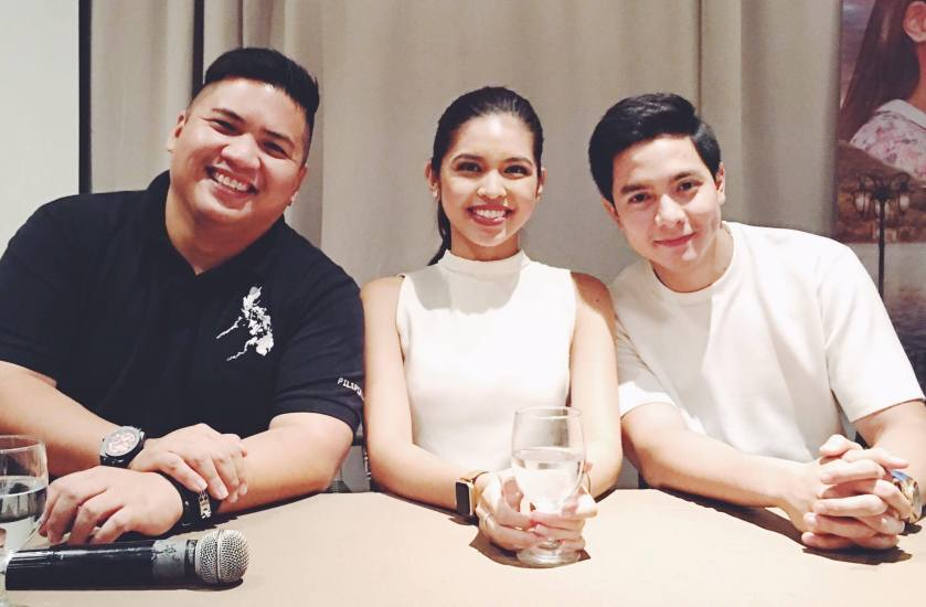 Alden Richards, Maine Mendoza and Director Mike Tuviera for the movie 'Imagine You and Me'