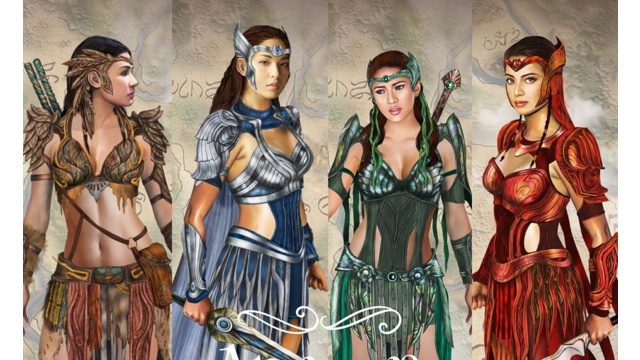 Sanya as Danaya, Kylie as Amihan, Gabbi as Alena, and Glaiza as Pirena in the new warrior costume designs.