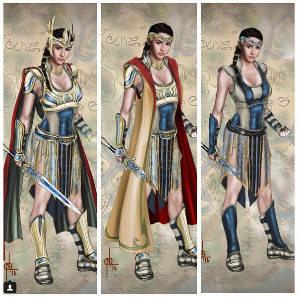 The Kapuso Primetime Queen as Ynang Reyna Minea in her warrior costume.