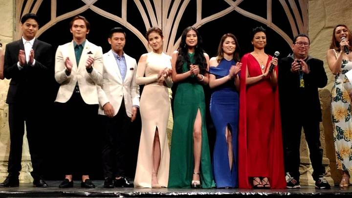Some of the major cast members promoted Encantadia 2016 on 24 Oras during the newscast's April 5 airing.