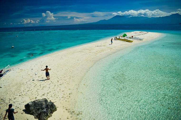 Sumilon sandbar in Cebu