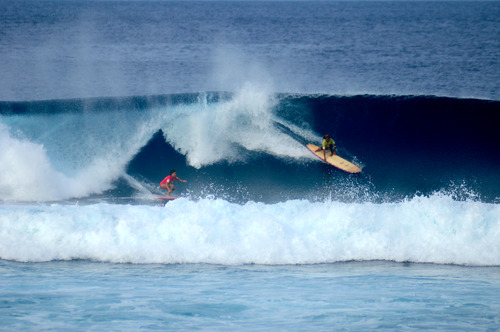 Surfing at Calicoan Island