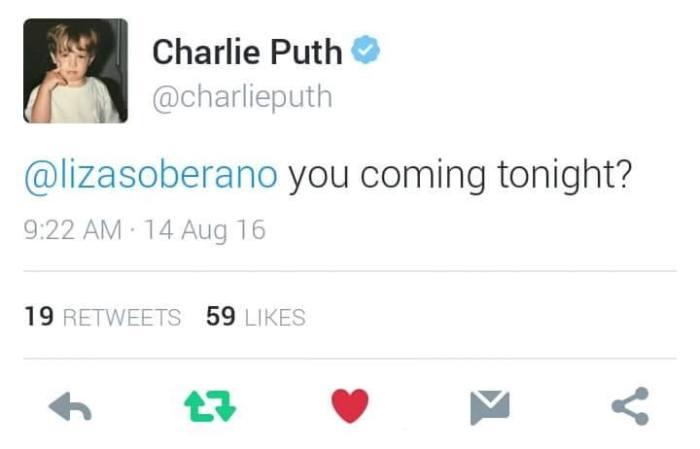 Charlie to Liza