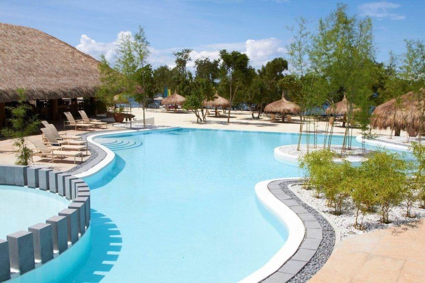 One of the luxury resorts in Danao Beach