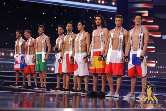 The Top 20 of Mister International 2016 in their swimwear.