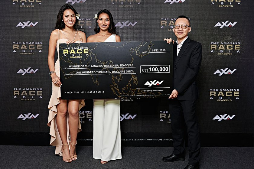 Parul Sha and Maggie Wilson win Amazing Race Asia 2016