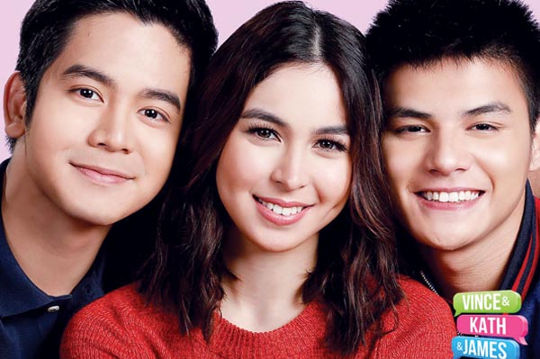 Vince and Kath and James starring Joshua Garcia, Julia Barretto, and Ronnie Alonte.