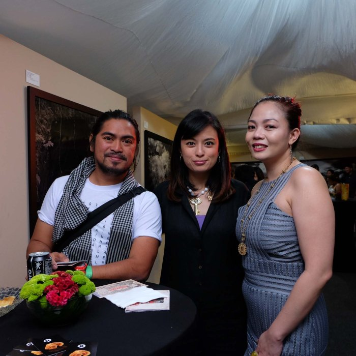 Last year's grand prize winner Riel Hilario (left) with Brand Director Monica Garcia and Celeste Quilantang.