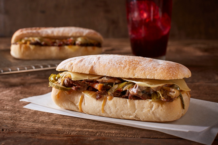 Cheese Steak on Ciabatta Bread