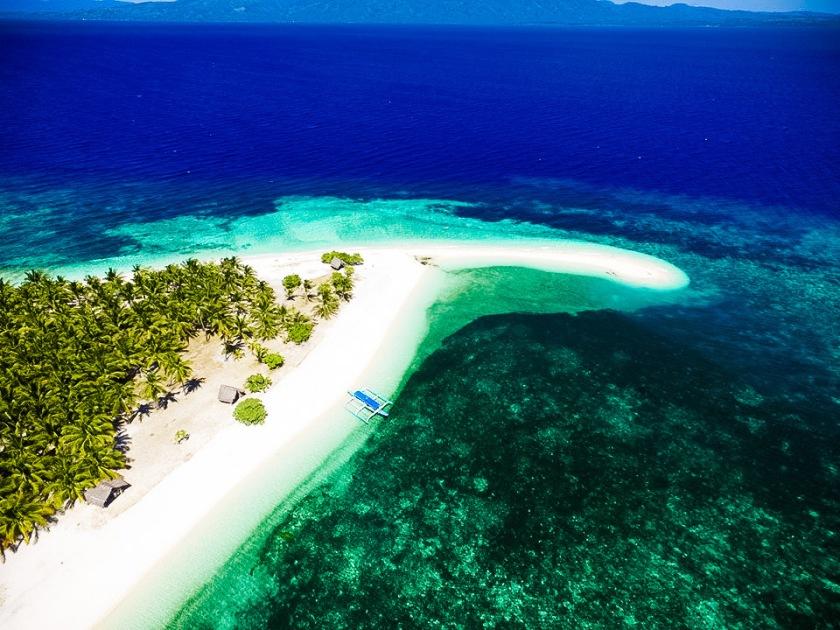 Cuatros Islas in Leyte aerial