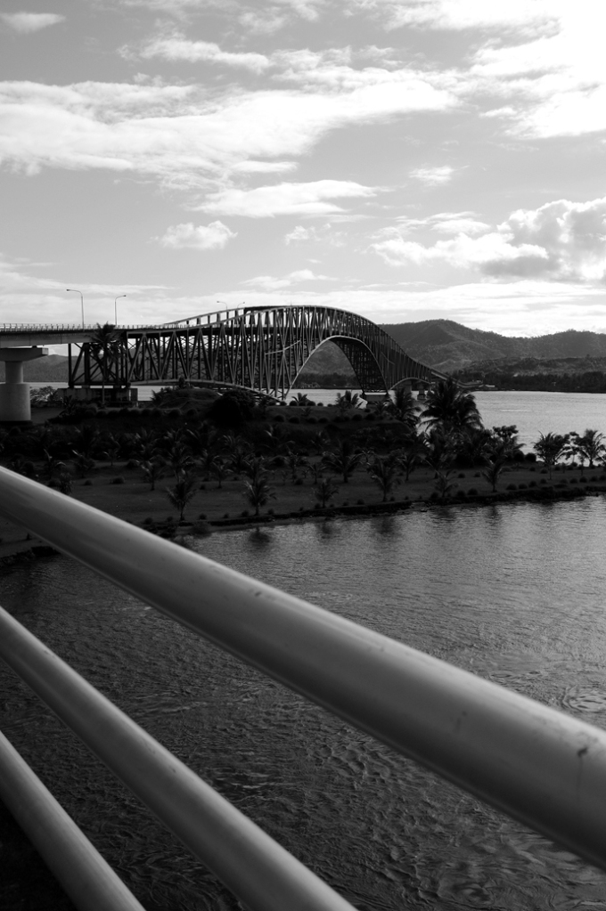 The city could be reached through San Juanico bridge in Tacloban