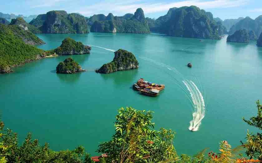 Halong Bay Vietnam Aerial Shot