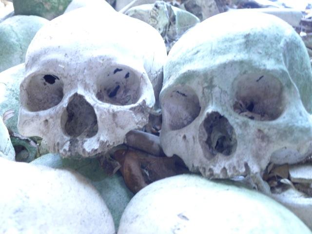 Skulls inside Guyangan Caves
