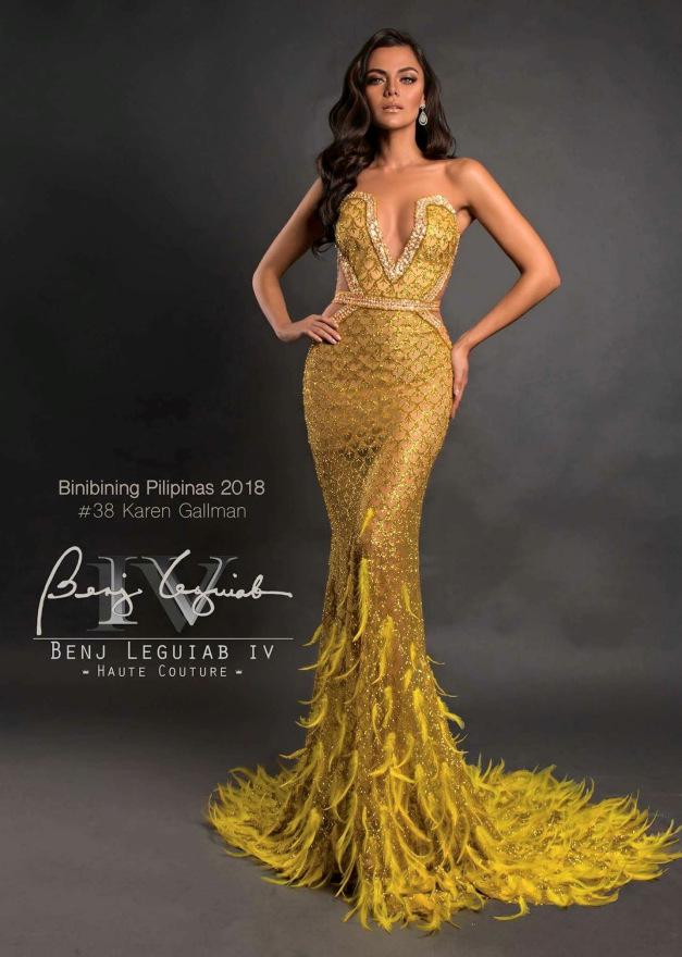 Karen Gallman for Binibining Pilipinas 2018