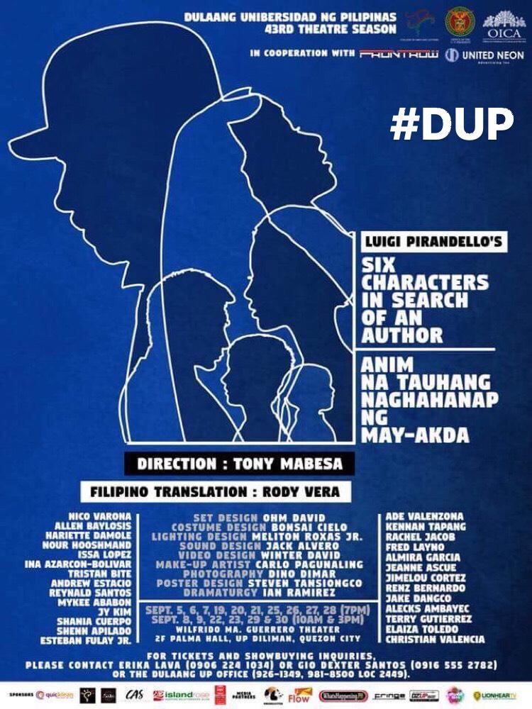 DUP Six Characters